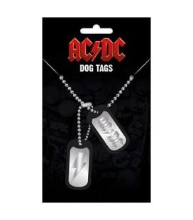 Pendentif Dog Tag Logo AC/DC