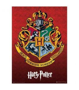 Poster Hogwarts Crest Effet Métallique