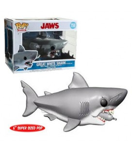 Pop! Great White Shark with Diving Tank Oversized [759]