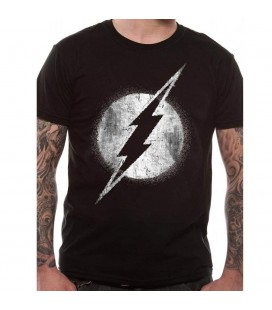 T-shirt The Flash Logo Mono Distressed