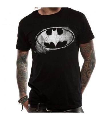 T-shirt Batman Logo Mono Distressed