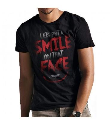 T-shirt Batman Dark Knight Trilogy Smile Quote