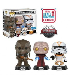 Pop! Tarfful, Unhooded Emperor, Utapau Clone Trooper Limited Edition [3-Pack]