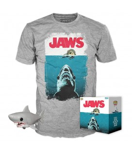Pop! Great White Shark Oversized (Exclusive Bloody) & T-Shirt