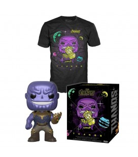 Pop! Thanos (Exclusive Metallic) & T-Shirt