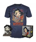 Pop! Wonder Woman (Exclusive Jim Lee Deluxe BW) & T-Shirt