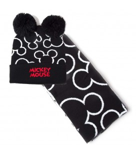 Set Bonnet & Echarpe Mickey Mouse