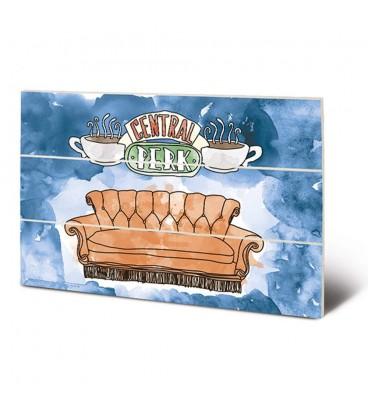 Tableau bois Central Perk Sofa 20X29.5