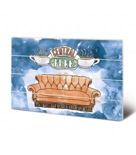 Tableau bois Central Perk Sofa 40X59