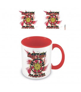 Mug Captain Marvel Coloured Inner Rock