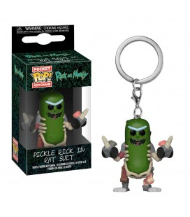 Pocket Pop! Keychain - Pickle Rick in Rat Suit