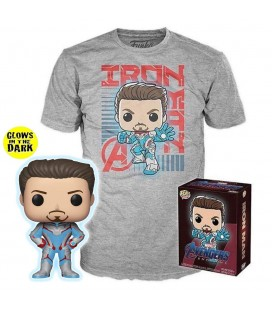 Pop! Tony Stark (Exclusive Glow In The Dark) & T-Shirt