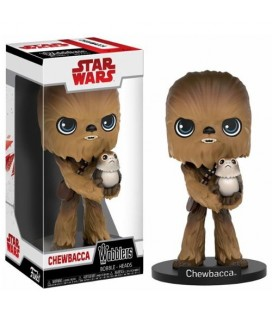 Pop! Wobblers - Chewbacca avec Porg