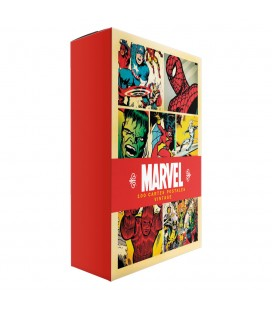 Coffret Marvel : 100 couvertures Marvel en cartes postales vintage