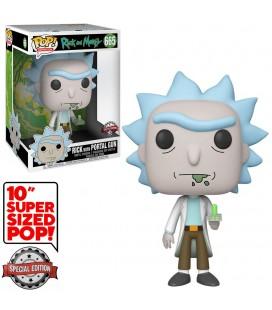 "Pop! Rick with Portal Gun Super Sized 10"" Edition Limitée [665]"