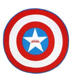 Serviette de Plage / Bain Ronde Captain America