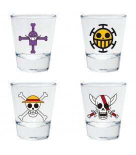 Verres Shooters Emblèmes One Piece