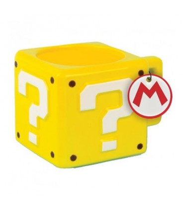 Mug Super Mario Question Block