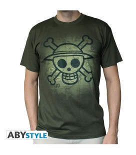 T-shirt Skull with map Used