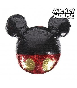 Coussin Paillettes Mickey Mouse
