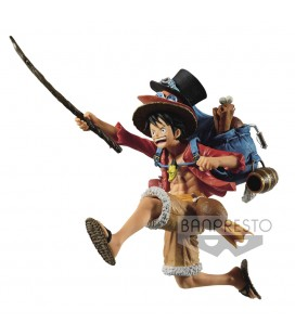Statuette Monkey D. Luffy Three Brothers 11 cm