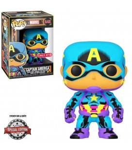 Pop! Captain America Edition Limitée Black Light Series [648]