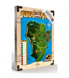 Tableau WoodArts 3D Isla Nublar Map