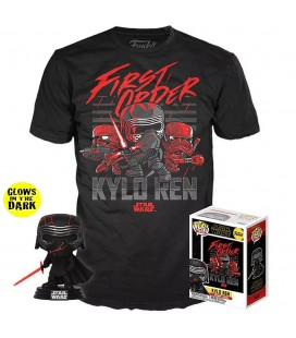 Pop! Kylo Ren (Exclusive GITD) [308] & T-Shirt