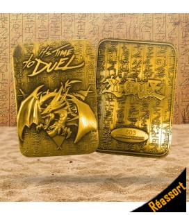 Carte Slifer, le Dragon Céleste Collector LTD Métal Plaquée Or 24K