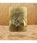 Carte Slifer, le Dragon Céleste Collector LTD Métal Plaquée Or 24K