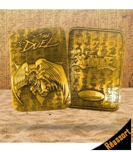 Carte Dragon Ailé de Râ Collector LTD Métal Plaquée Or 24K