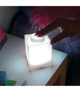 Lampe veilleuse Pièce de Lego Blanche
