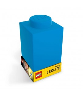 Lampe veilleuse Pièce de Lego Bleue