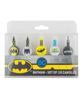 Pack 10 bougies Batman