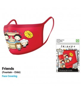 Set de 2 Masques Tissu Chibi Friends