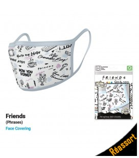 Set de 2 Masques Tissu Friends Phrases