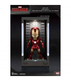 Hall Of Armor Iron Man Mark III Mini Egg Attack avec Eclairage LED
