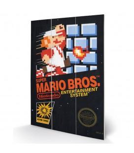 Tableau bois Super Mario Bros NES Cover 20X30
