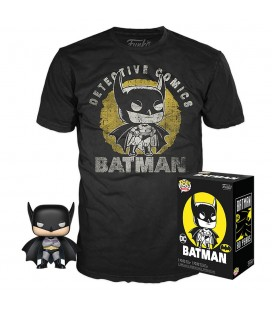 Pop! Batman (Exclusive Sun Faded) [270] & T-Shirt