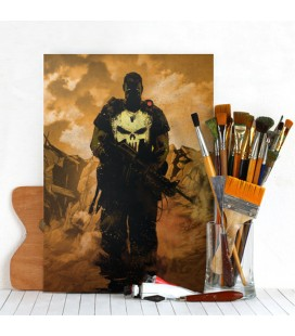 Displate Punisher - Dark Edition - Magnetic Metal Poster 31*21