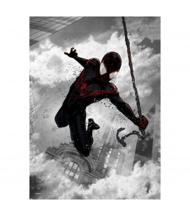 Displate Miles Morales - Dark Edition - Magnetic Metal Poster 31*21