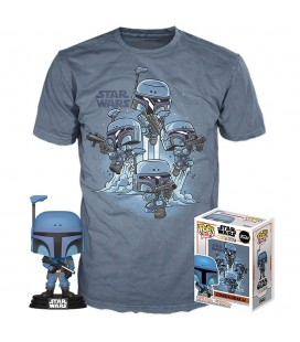 Pop! The Mandalorian (Exclusive No Stripes) [361] & T-Shirt