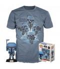 Pop! The Mandalorian (Exclusive No Stripes) [361] & T-Shirt