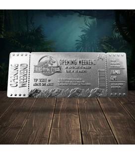 Réplique Ticket d'entrée VIP Jurassic Park Plaqué Argent Edition Limitée (5000 Ex)