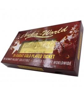 Réplique Ticket d'entrée Nuka World Plaqué Or 24K Edition Limitée (1997 Ex)