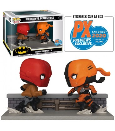 """Pop! Red Hood Vs Deathstroke """"Comic Moments"""" SDCC 2020 Edition Limitée (30000 Ex.) [336]"""