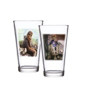 Pack 2 verres Chewbacca & R2-D2