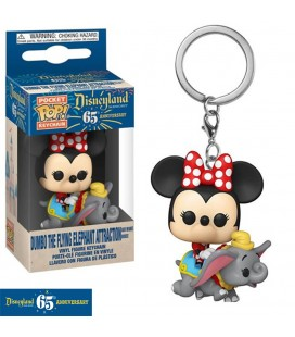 Pocket Pop! Keychain - Minnie In The Dumbo The Flying Elephant Attraction (Disneyland 65Th Anniversary)